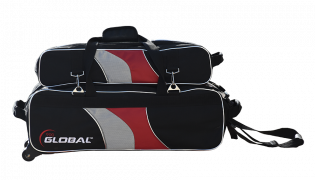 900 GLOBAL 3-BALL DELUXE AIRLINE BLACK/RED/SILVER